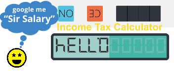 Income Tax Calculator: UK 2017 / 2018 Sir Salary Image